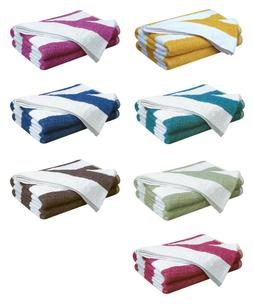 100% Cotton Pool Towels Chlorine Resistant Striped Holiday B