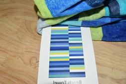 "Mainstays 34"" x 64"" 100% Cotton Asymmetrical Stripe Beach To"