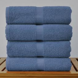 4-PACK 100% BLUE TURKISH COTTON BEACH / POOL TOWELS 30x60 in