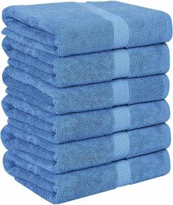 6 cotton bath towels 22x44 inch absorbent