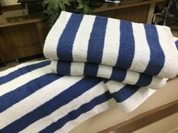 6 pack new large beach resort pool towels in cabana stripe b