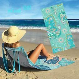 Aura 2 in 1 Beach Pool Towel Lounger With Pole For Carrying