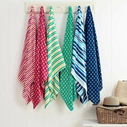"Beach Towels - Striped - Polka Dots - TWO PACK - 30"" x 60"" -"
