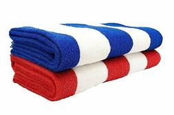 Lavo Home - Cabana Style Beach Towels - Striped Towels for T