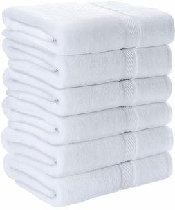 "Pack of 6 Cotton Bath Towels 24x48"" Pool Gym Towels Utopia T"