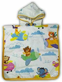 mauvy Hooded Towel for Kids Toddlers for Beach Bath Pool, Bo