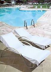 100 % TURKISH COTTON WHITE POOL CHAIR TOWEL COVER