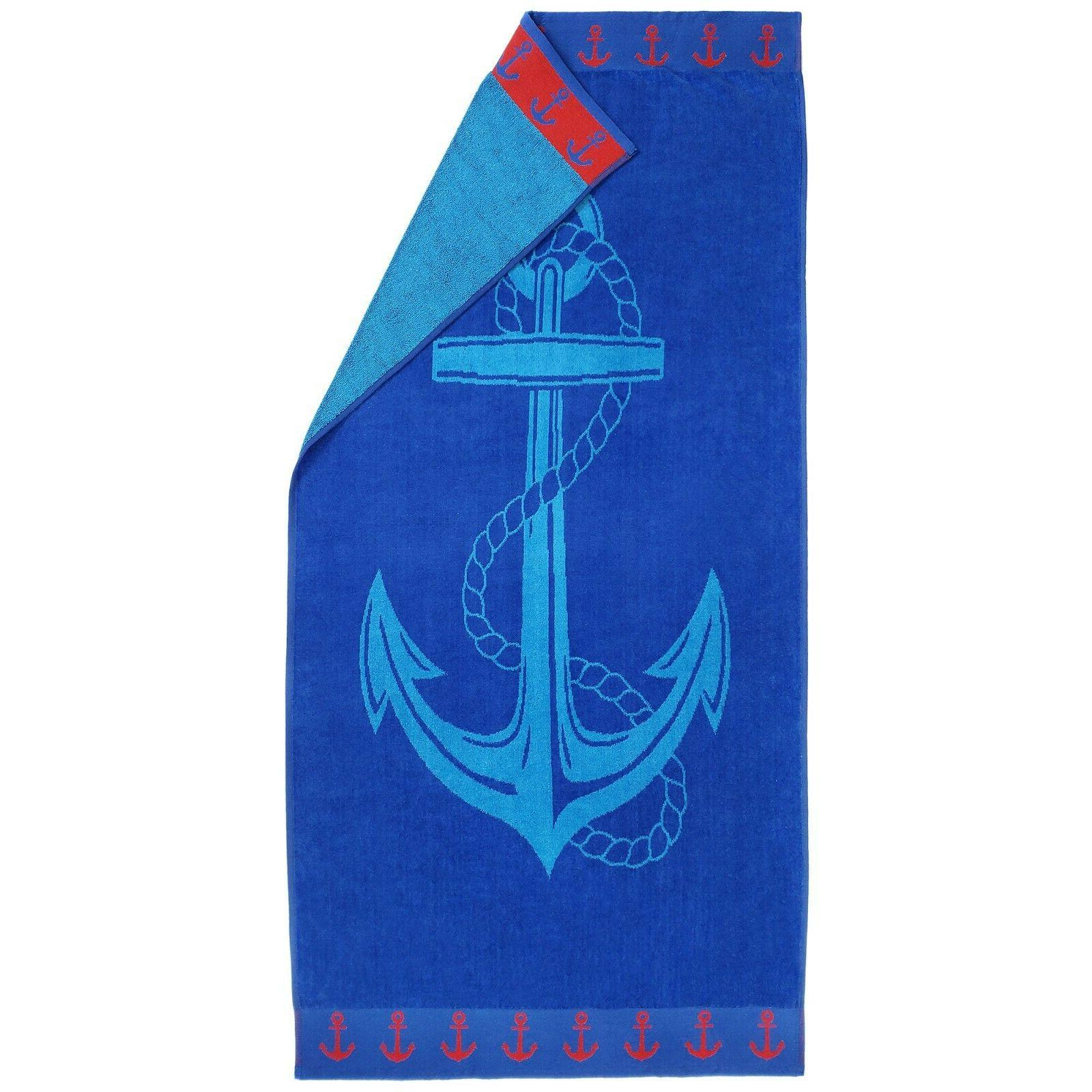 Kaufman 30 Velour Jacquard Beach Towels and Pool Pack of 4