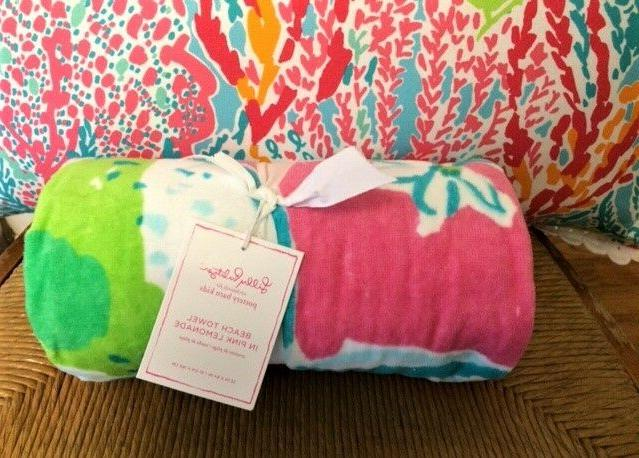 nwt pottery barn pool towel in pink