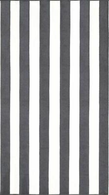 """Silver Gray Marine Stripes Pool Towel - 40"""" x 72"""" -  Made In"""