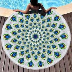 Large Round Beach Pool Home Shower Towel Tapestry Blanket Ta