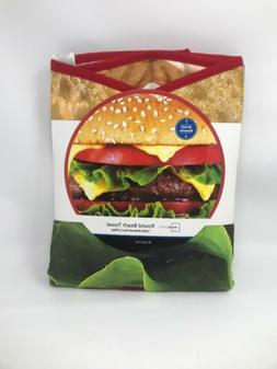 Wal-Mart Mainstays Cheeseburger Round beach towel 58 IN dia