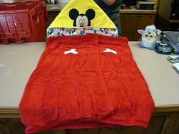 Disney Mickey Mouse Cotton Hooded Towel For Beach, Bath or P