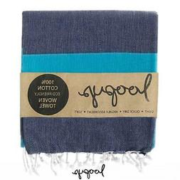 Loopys Navy & Blue Stripe premium Turkish Towel Beach Bath P