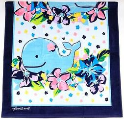 "New Vera Bradley Marian Floral Whale 33"" x 66"" Beach Pool To"