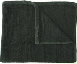 NEW Pack of 2 Black Beach Towels 30x60 - Velour Finish - Sol