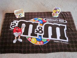 New Vibrant M&M's  Beach Pool Bath Towel NEW WITH TAGS  FREE