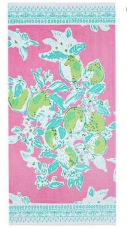 NWT Lilly Pulitzer Pottery Barn Pool Towel in Pink Lemonade