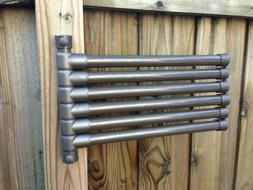 Outdoor pool towel holder rack - 6 bar - Wall Mount for pati