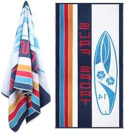 Oversized Beach Pool Towel  Quick Dry Cotton Surf Striped 66