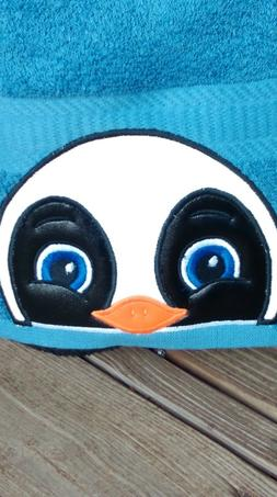 PENGUIN Hooded Towel .Great for Bath/ Beach/Pool! Great for