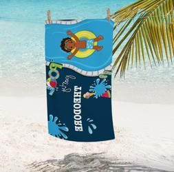 Personalized Pool Party Kids Towel | Boys