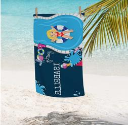 Personalized Pool Party Kids Towel | Girls