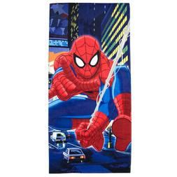"MARVEL SPIDER-MAN Beach Towel Pool Bath 100% Cotton 28"" X 58"