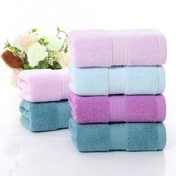 Thick Super Absorbent Towel Solid Color Soft Cotton Face Was