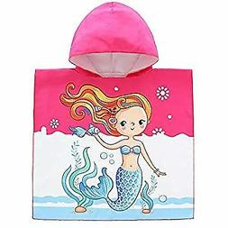 eccbox Toddler Hooded Beach Towels for 1 to 6 Years Old, Kid