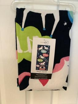 Unicorn Beach Towel by Mainstays  2ft X 5ft New